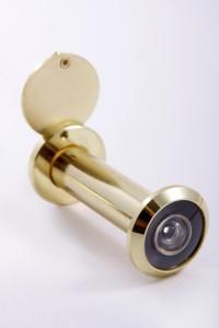 Дверной глазок для входной двери с позолотой