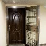 Двойная металлическая входная дверь для частного дома