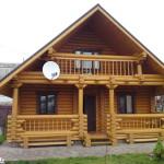 Двухэтажный деревянный дом из профилированого бруса