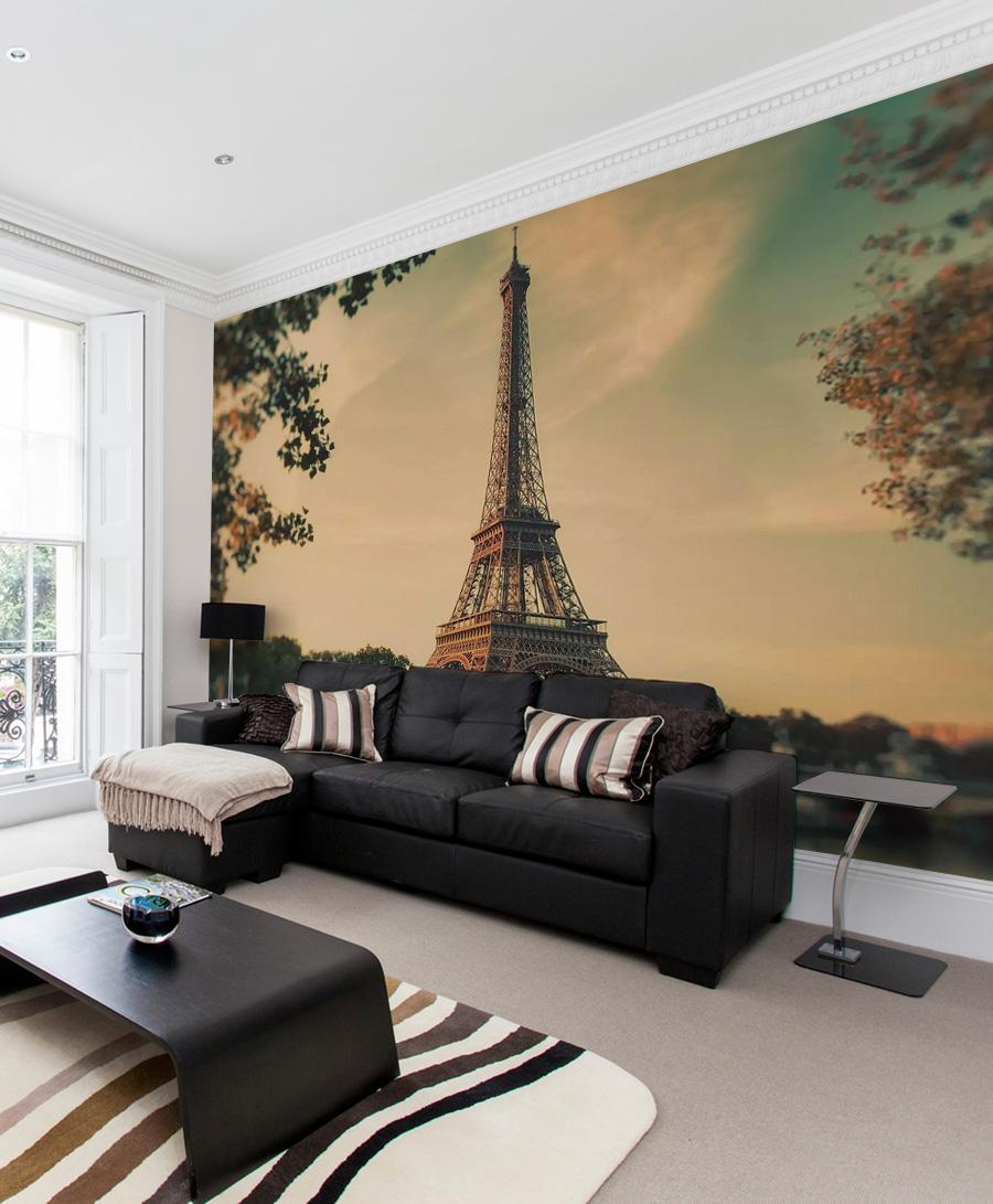 Эйфелева башня на фотообоях
