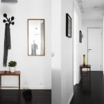 Скандинавский стиль в черно-белом цвете оформленный в прихожей