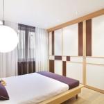Глухая межкомнатная перегородка под дизайн спальни