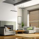 Горизонтальные жалюзи для современного стиля гостиной