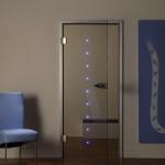 Интересные приемы подсветки для двери
