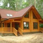 Красивый уютный домик из профилированного бруса