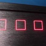 Красные квадраты подсветка внутри дверного полотна