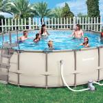 Круглый каркасный бассейн для всей семьи