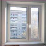 Металлопластиковые окна в спальне в квартире