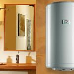Накопительный водонагреватель в интерьере ванной комнаты