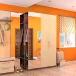 Насыщенный оранжевый цвет для стен в прихожей