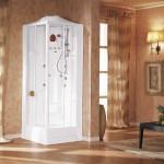 Необычный дизайн душевой кабины для ванной комнаты