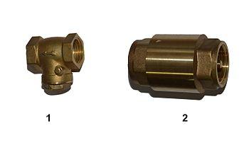 Обратный клапан с заслонкой и без нее