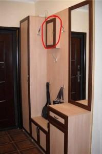 Отделка мебели и место в нем для электрического счетчика