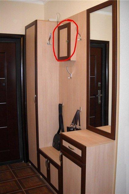 Отделка мебели и место в нем для электрического счетчика - в.