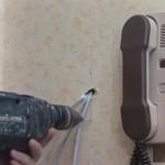 Подключение домофонной трубки в квартире