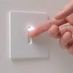 Подсветка для белого выключателя в прихожей