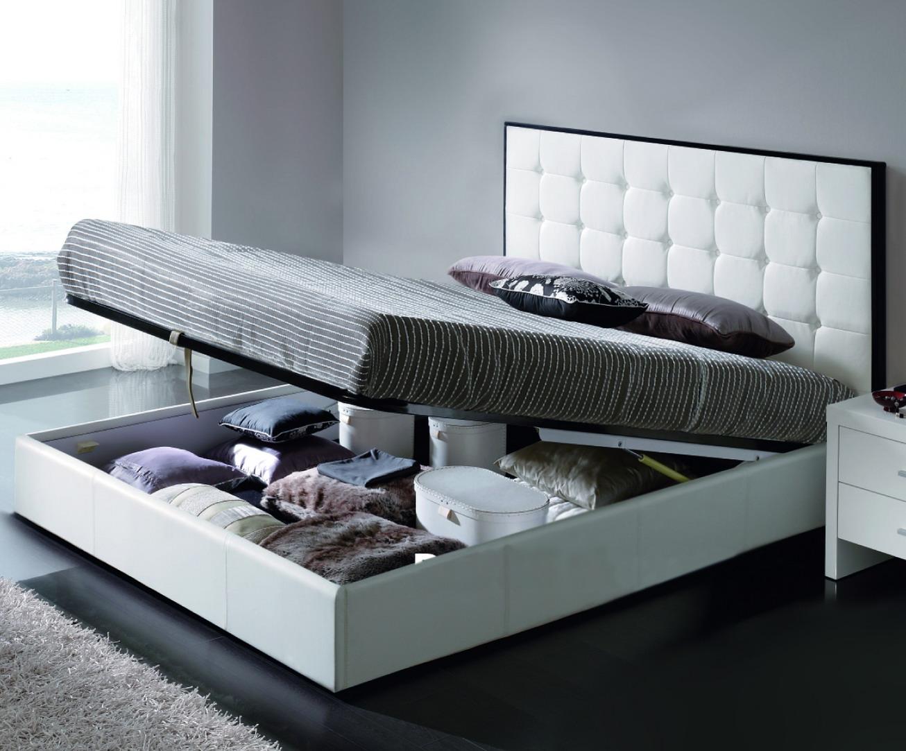 Практичная модель кровати для хранения вещей