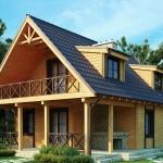 Профилированный брус для красивого дачного строения