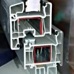 Пятикамерный пластиковый профиль для окна