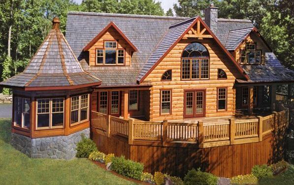 Шикарный деревянный дом из бруса