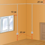 Схема расположения выключателей света в прихожей