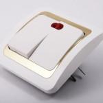 Стандартный дизайн современных выключателей для прихожей
