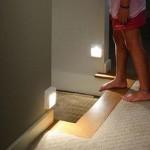 Светильники работающие от датчика движения у пола