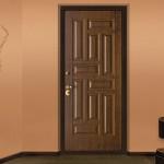 Темная входная дверь для квартиры