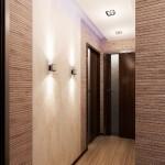 Входная дверь с подсветкой в квартире