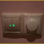 Выключатели с регулировкой света в подсветкой для прихожей