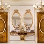 Офорлмение в прихожей зеркал в стиле барокко