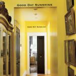 Солнечная желтая прихожая с стильным интерьером