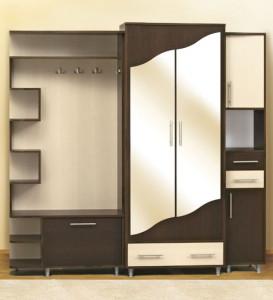 Элегантный и практичный шкаф в прихожую для стиля хай-тек