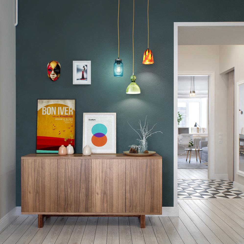 Необычные светильники для стиля лофт в прихожей