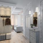 Белый интерьер прихожей стиль лофт