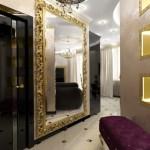 Большое шикарное арт--деко стиля зеркало с рамкой из позолоты для прихожей