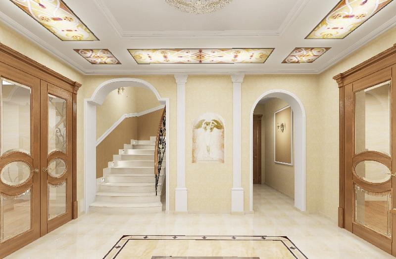Подсветка в стиле модерн для потолка в прихожей