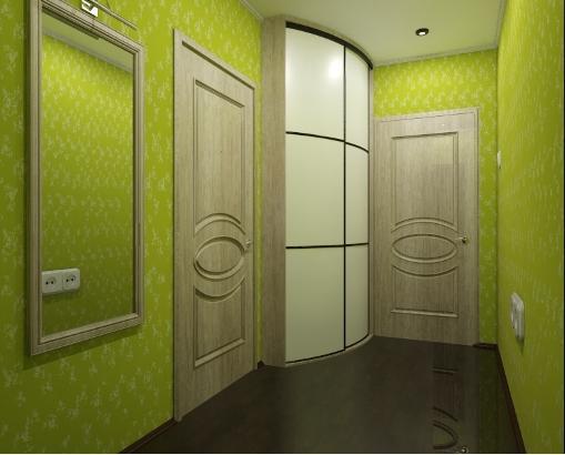Фисташковый оттенок зеленого для просторной прихожей