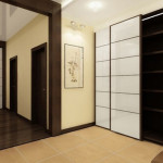 Японский стиль в сочетании с минимализмом в прихожей
