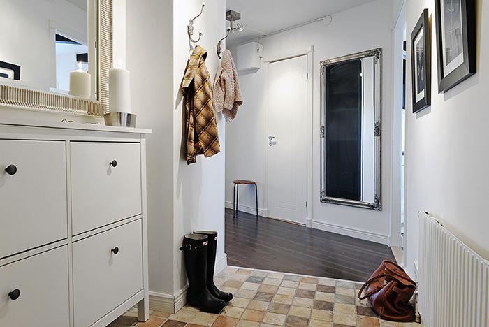 Элегантный и простой скандинавский стиль в прихожей