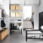 Функциональность мебели для прихожей с нотками скандинавского стиля