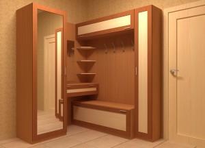 Практичный шкаф для в небольшой прихожей коричневого цвета
