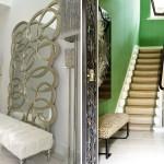 Декоративное зеркало в создании дизайна для стиля модерн в прихожей