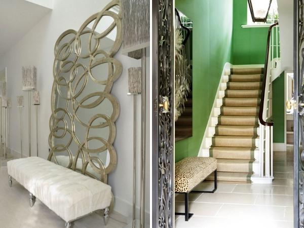 Декоратичное зеркало в создании дизайна для стиля модерн в прихожей