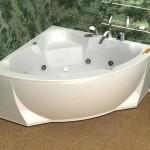 Аккуратная угловая акриловая ванна
