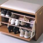 Банкетка с полкой для обуви