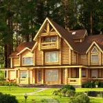 Деревянный дом сложного проекта