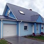 Дом с крышей из металлической черепицы