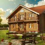 Дорогой проект деревянного дома
