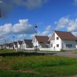 Двухэтажные дома в коттеджном поселке